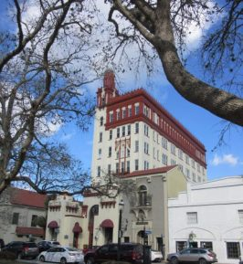 Tall building is Treasury building