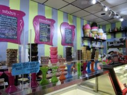 Inside Scoops is colorful.