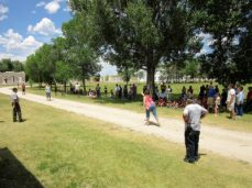 Women's egg toss competition