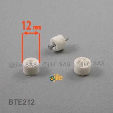 taquet plastique rond diam 12 mm pour etagere blanc