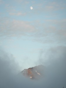 Mt Steel in the clouds, Olympic National Park, Photo by Allan J Jones
