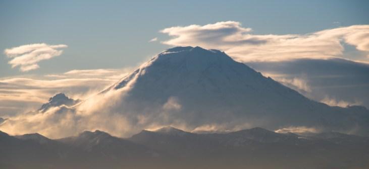 Mt Rainier from West Seattle Bridge, Photo by Allan J Jones
