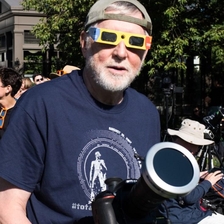 Eclipse Photographer, Salem, OR, 21Aug2017, Photo by Allan J Jones
