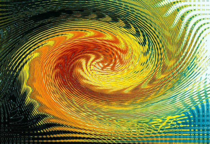Cadmium Yellow Swirl 1, Photo by Allan J Jones