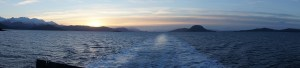 Sunrise north of Juneau, Inside Passage, 24Nov2013, Photo by Allan J Jones