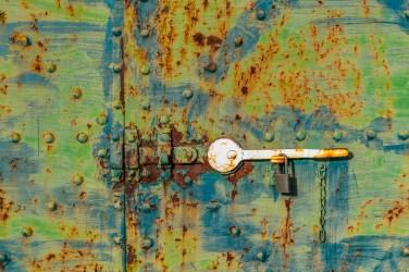 Powerhouse door detail by Allan J Jones