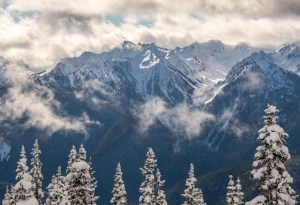 Bailey Range from Hurricane Ridge by Allan J Jones Photography