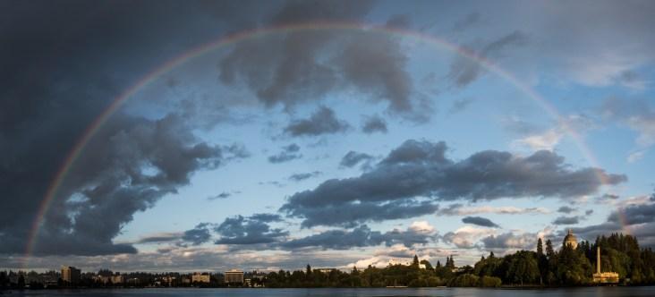 Rainbow over Capitol Lake