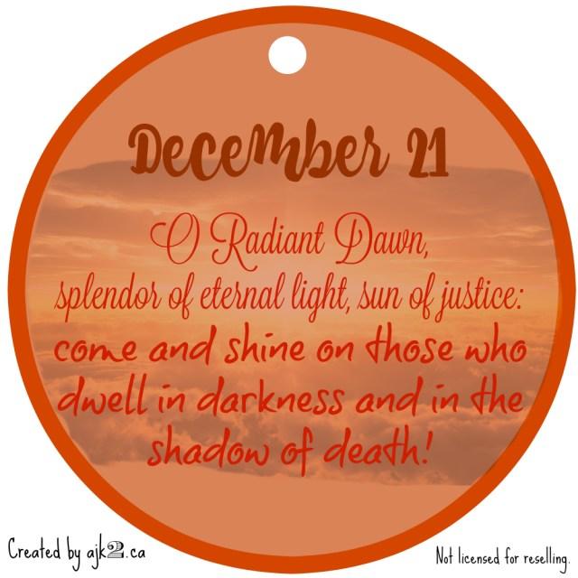 December 21 - site