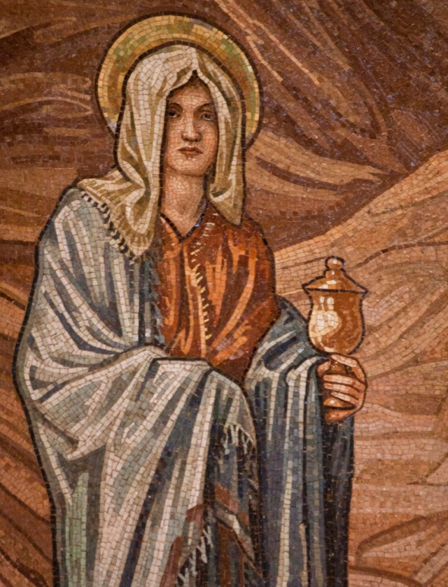 St Mary Magdalene mosaic by Lawrence OP (2010) via Flickr.