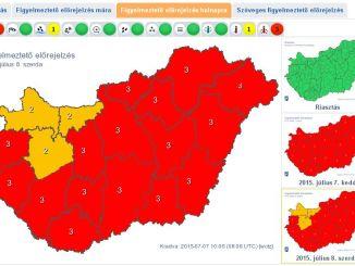 Heves zivatarra figyelmeztet a meteorológia