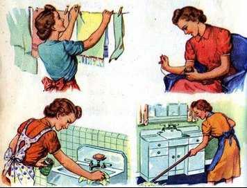 háziasszonyok otthoni munkája)