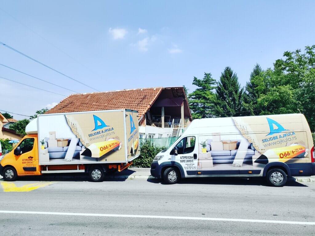 Kombi i kamion za selidbe 2020