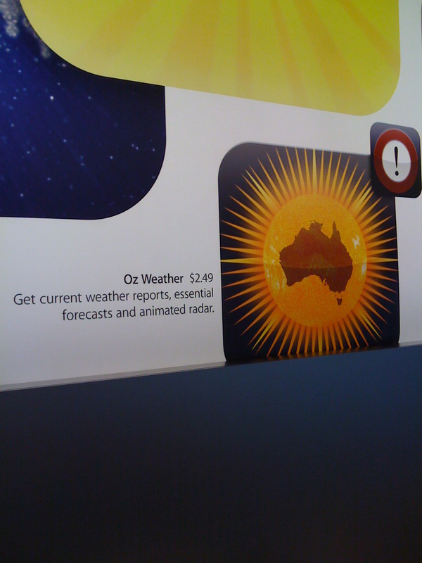 Oz Weather - Apple Store Mural