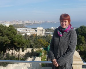 Jane Salvage in Baku, Azerbaijan