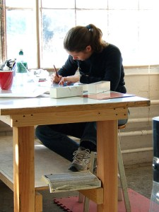 Artist at Work by ms. Tea / Tracy Ducasse, via Flickr.