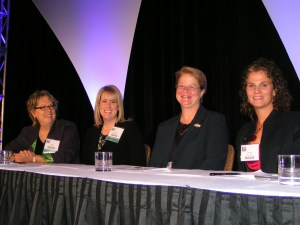 At the AJN Conference: left to right, Diana Mason, Amanda Stefancyk, Catherine Drous, Teresa Pavone