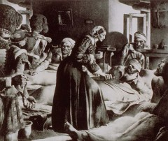 Florence Nightingale in Crimean War, from Wikipedia Commons