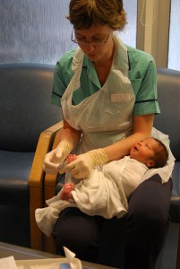British Nurse and Baby, via Flickr/jdlasica
