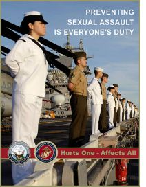 March 26, 2010: A poster supporting the Sexual Assault Prevention and Response (SAPR) program. (U.S. Navy photo illustration/Released)