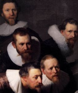Detail from Rembrandt's 'The Anatomy Lecture of Dr. Nicolaes Tulp'