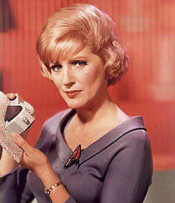 Nurse Christine Chapel, original Star Trek series/via Wikipedia