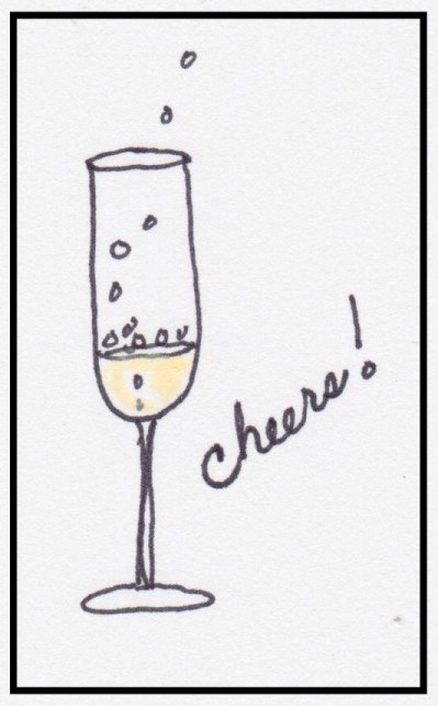Champagne flutes are tall and thin to preserve those bubbles!
