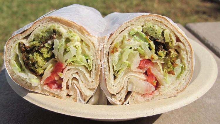 Veggie wrap sandwich