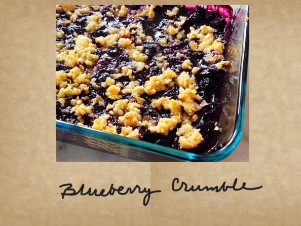 Photo of baked blueberry crumble