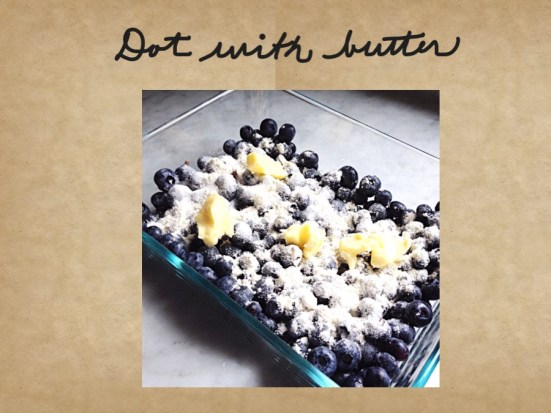 Photo of berries dotted with butter