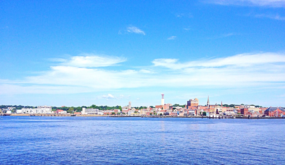 photo from ferry of New London, CT
