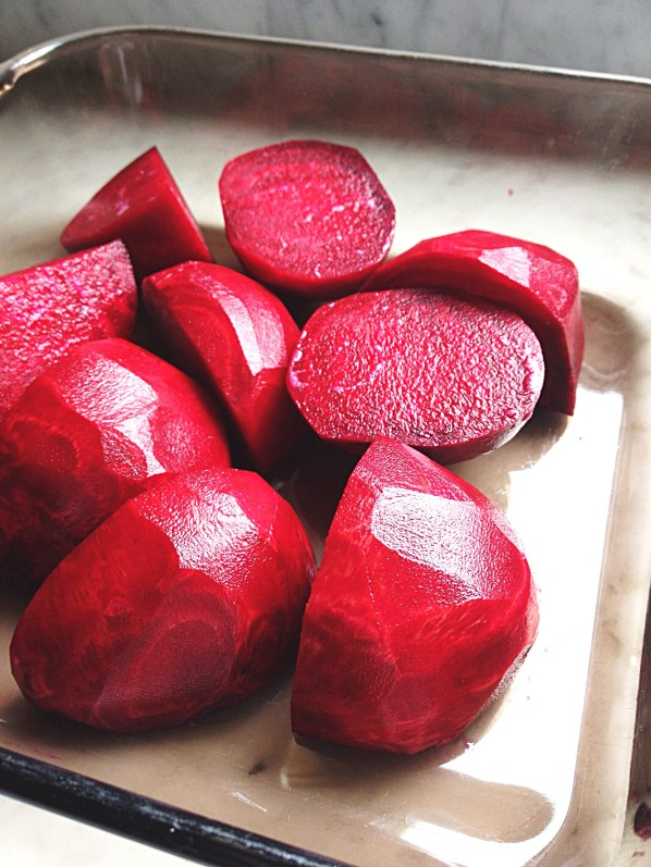 Photo of beets in baking dish
