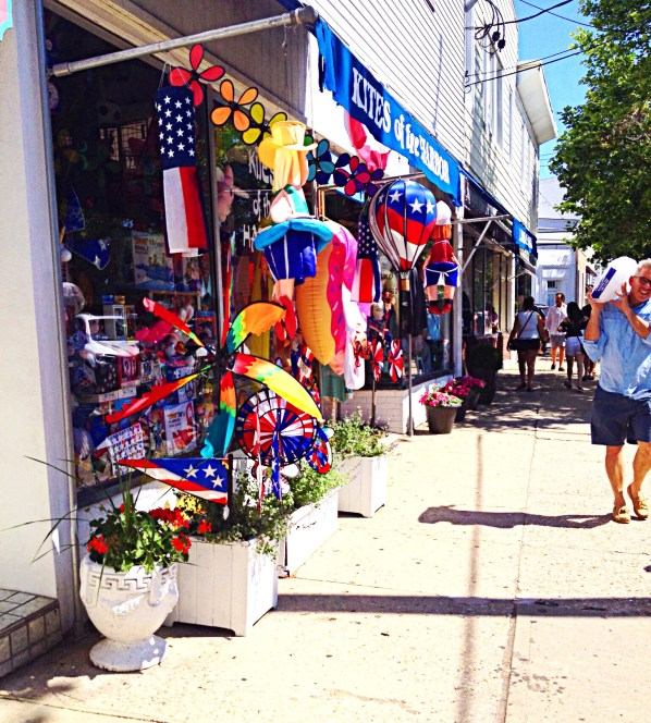 Photo of Sag Harbor's colorful shops