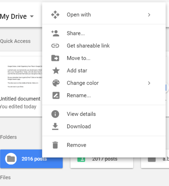 Organizing Your Files in Google Drive - A  Joann