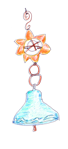 drawing of traditional bell