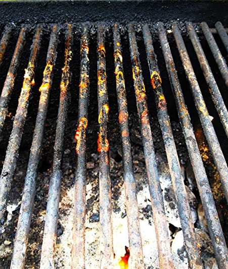debris stuck on grill grates