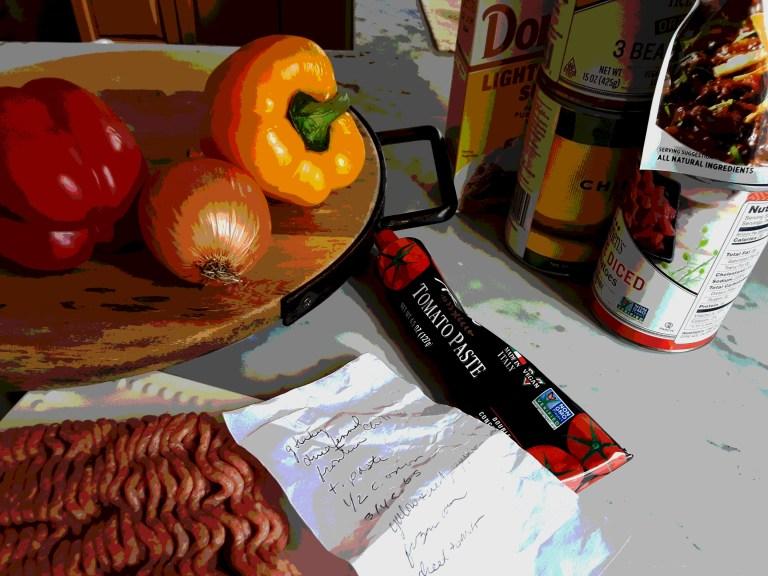 Ingredients for turkey chili