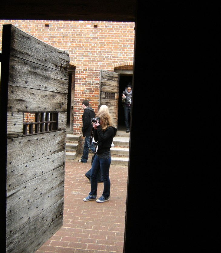 looking out from jail. Williamsburg, VA