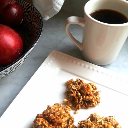 Oat banana walnut bites