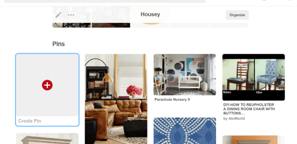 Collecting pins for decorating ideas