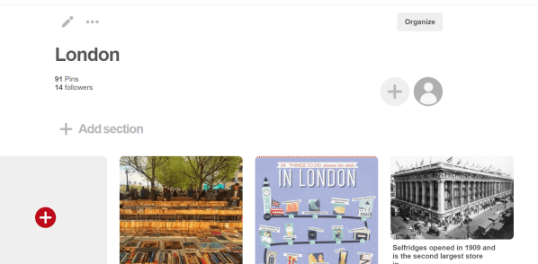 London Pinterest Board