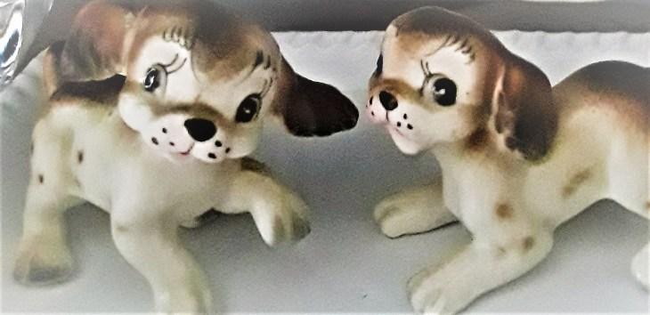 handpainted porcelain spaniel figurines