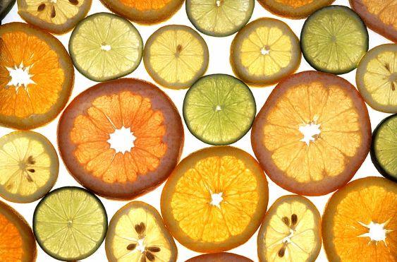 sliced grapefruit, limes, oranges, lemons