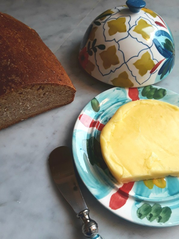 roll butter and homemade bread