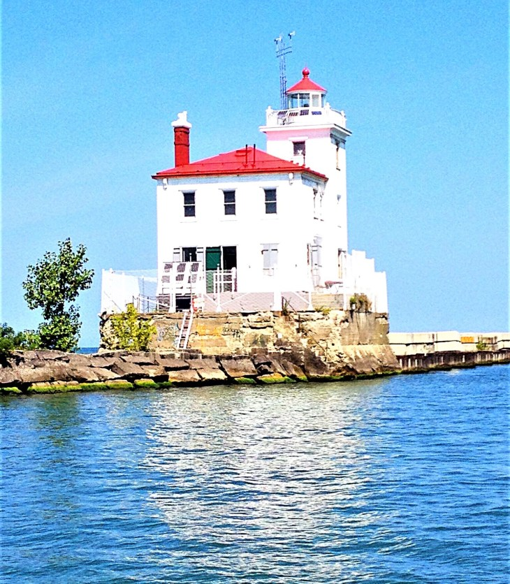 Lighthouse at Mentor Headlands, just east of Cleveland.