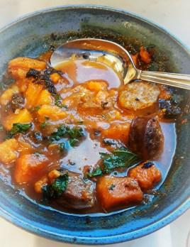 chorizo,kale,sweet potato