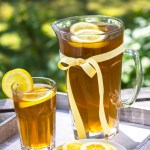 iced tea pitcher and glass