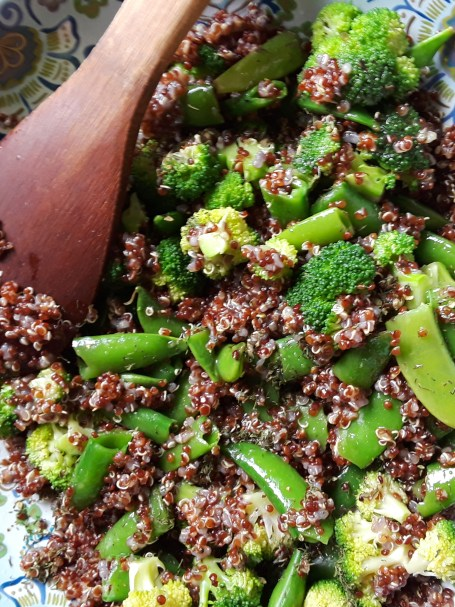 mix in quinoa