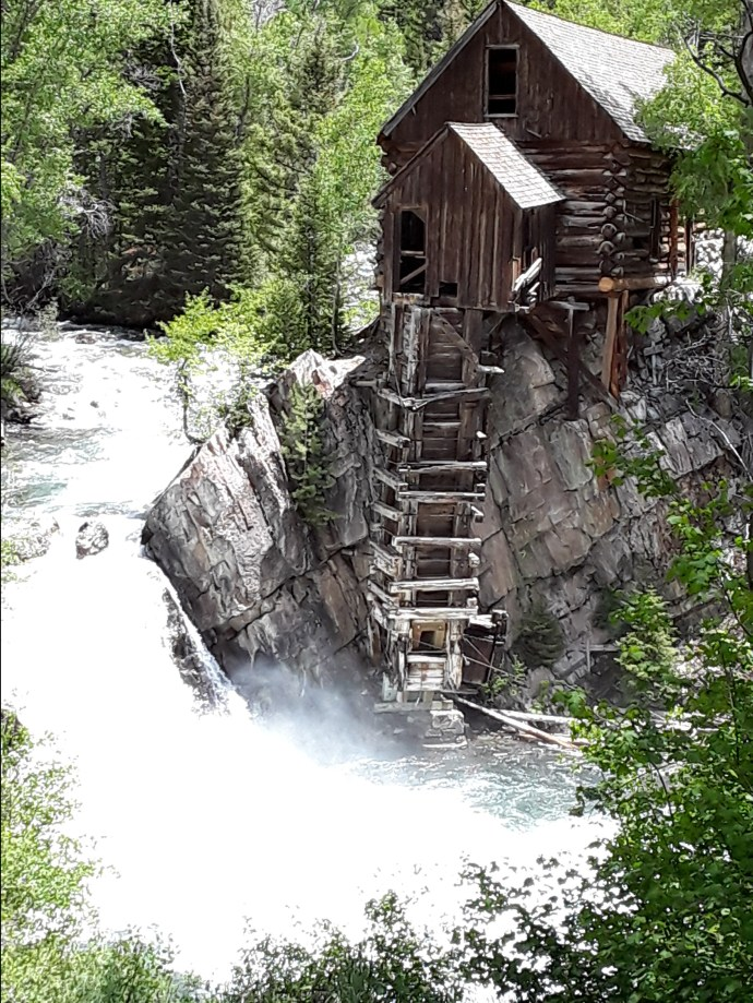 the Crystal Mill is built log cabin-style.