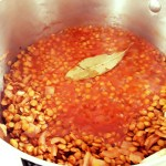 lentils cook in vegetable broth and spices
